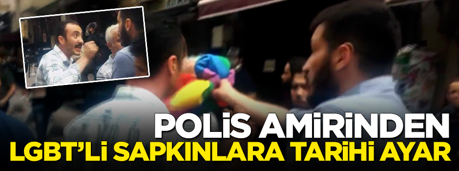 Polis amirinden LGBT'li sapkınlara tarihi ayar -VİDEO