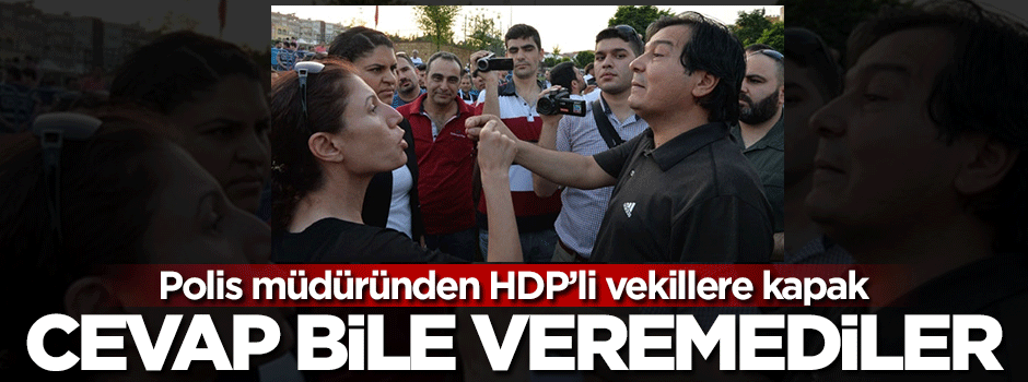 Polis müdüründen HDP'li vekillere kapak!