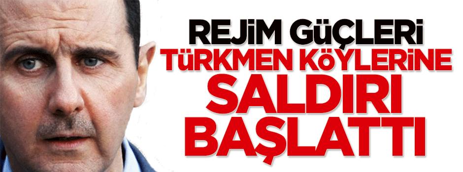 Rejim güçleri, Türkmen köylerine saldırı başlattı