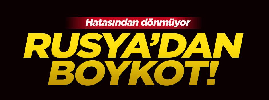 Rusya'dan Türkiye'ye boykot