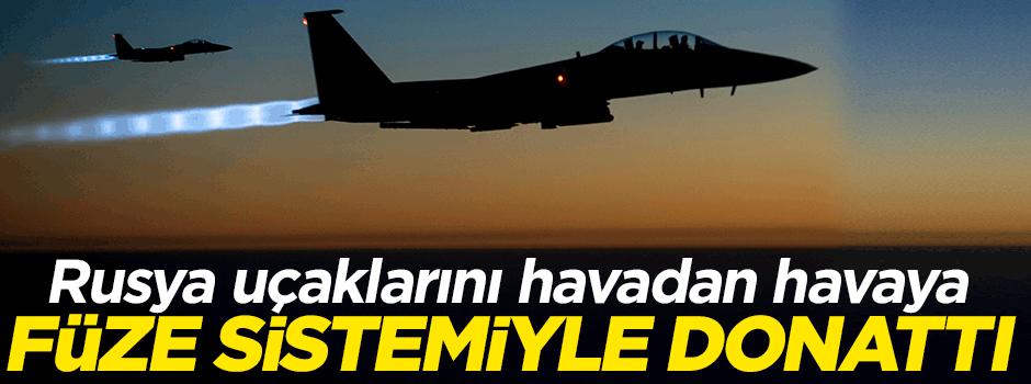 Rusya uçaklarını hava füze sistemiyle donattı