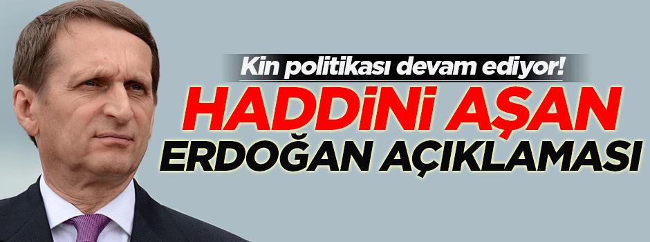 Rusya'dan haddini aşan Erdoğan açıklaması!