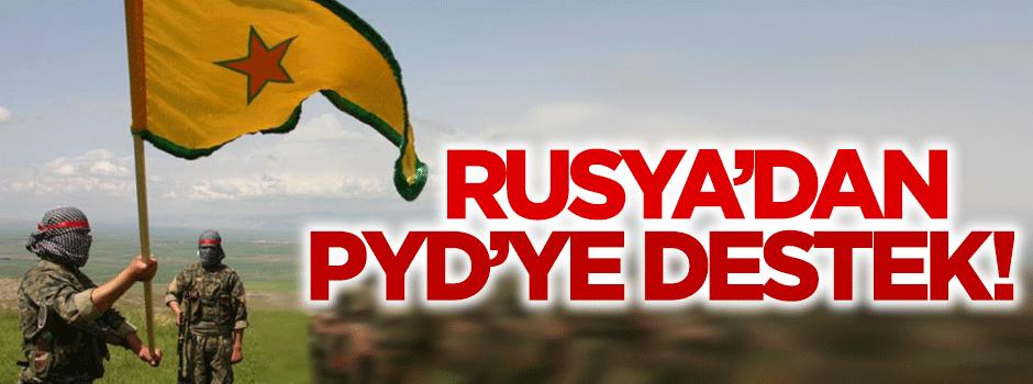 Rusya'dan PYD'ye destek