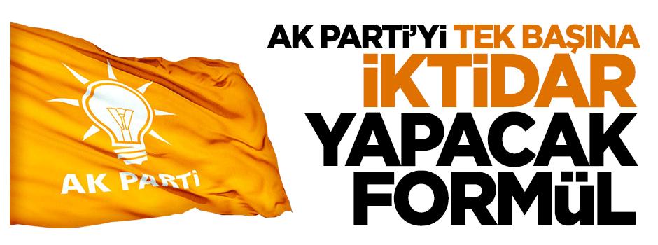 İşte AK Parti'yi tek başına iktidar yapacak formül