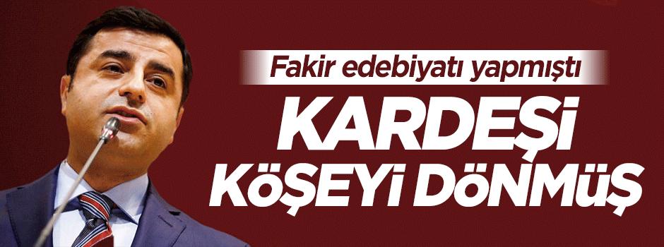 Selahattin Demirtaş'ın kardeşi köşeyi dönmüş