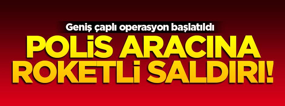 Siirt'te zırhlı polis aracına roketli saldırı