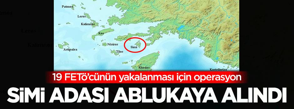 Simi Adası abluka altına alındı