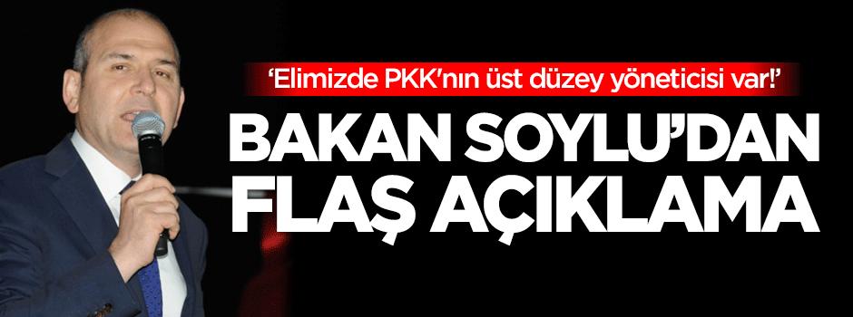 'Elimizde PKK'nın üst düzey yöneticisi var!'