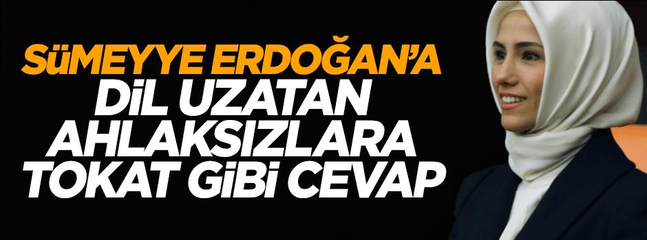 Sümeyye Erdoğan'a dil uzatan ahlaksızlara tokat gibi cevap