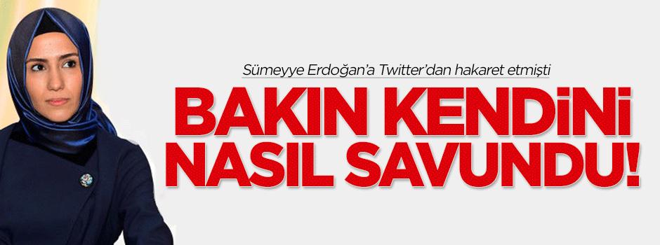 Sümeyye Erdoğan'a hakaret eden kişi serbest bırakıldı