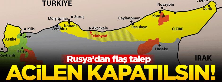 'Suriye-Türkiye sınırı acilen kapatılsın'