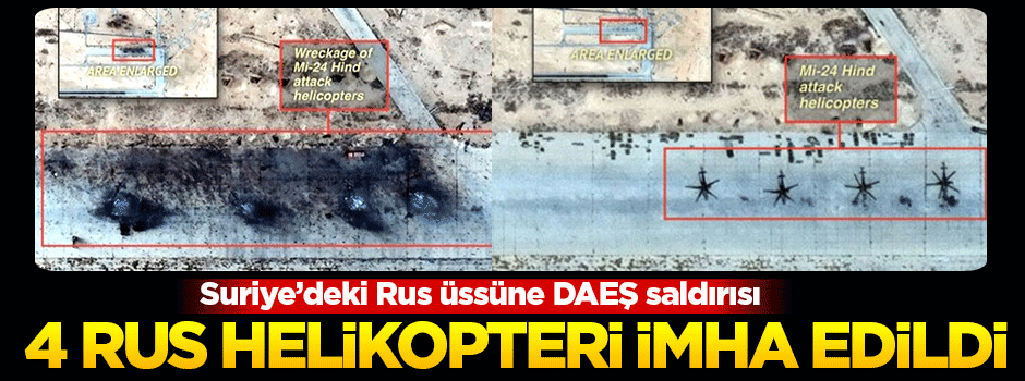 Suriye'deki Rus üssüne DAEŞ saldırısı