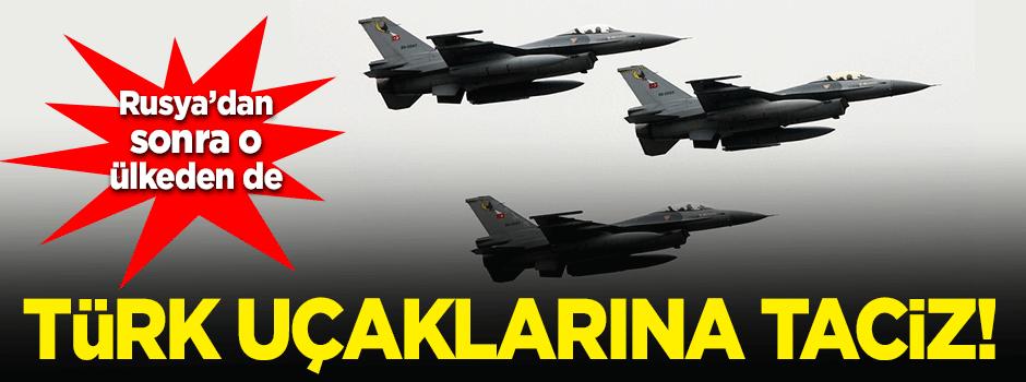 Suriye'den Türk uçağına taciz!