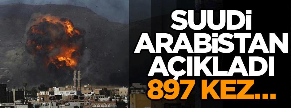 Suudi Arabistan açıkladı: 897 kez…