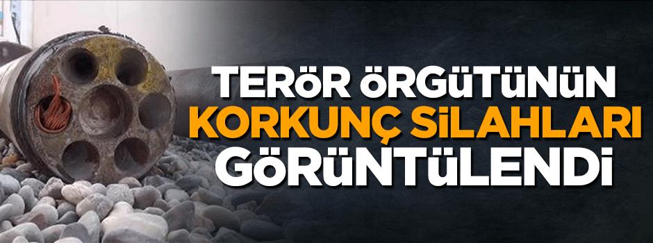 Terör örgütünün korkunç silahları görüntülendi