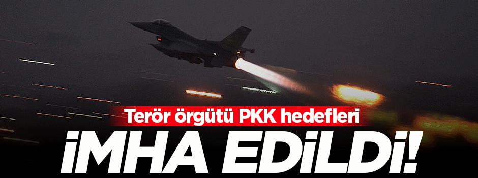 Çukurca'da PKK hedefleri imha edildi