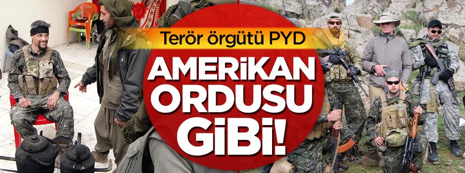 Terör örgütü PYD, Amerikan ordusu gibi!