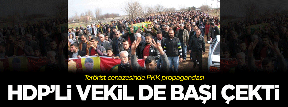 Terörist cenazesinde PKK propagandası