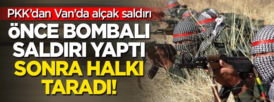 Teröristler bombalı saldırının ardından halkı taradı!