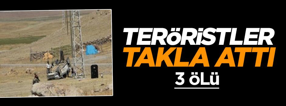 Teröristler takla attı: 3 ölü