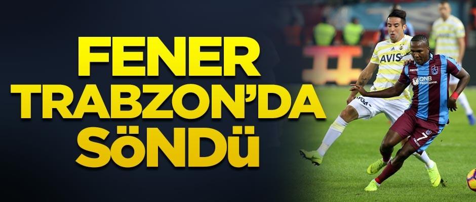 Trabzonspor Fenerbahçe'yi 2-1 mağlup etti