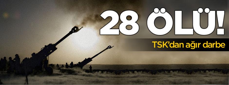 TSK vurdu, en az 28 terörist öldü!