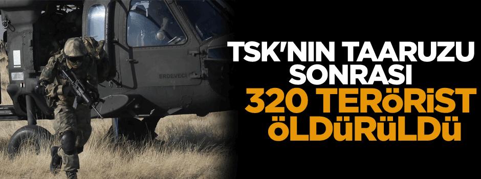 TSK'nın taarruzu sonrası 320 terörist öldürüldü