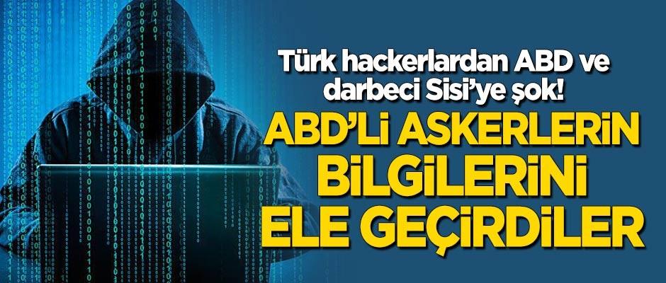 Türk hackerlardan ABD ve darbeci Sisi'ye büyük şok! ABD'li askerlerin bilgilerini ele geçirdiler