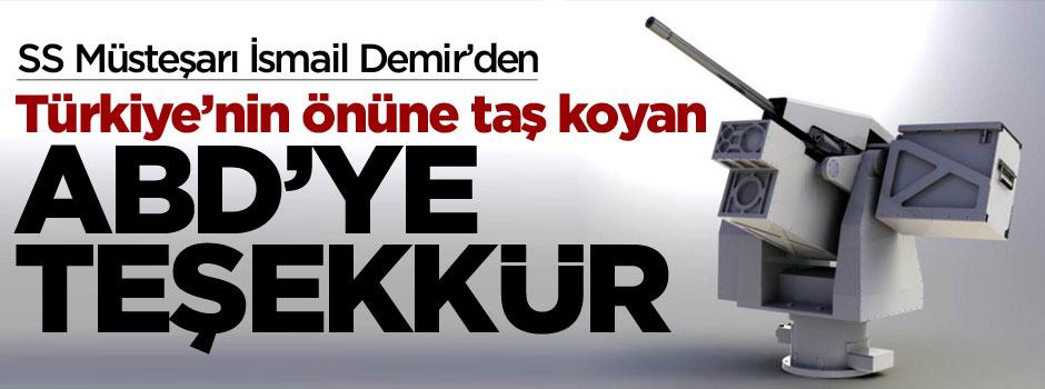 Türk müsteşardan ABD'ye teşekkür!