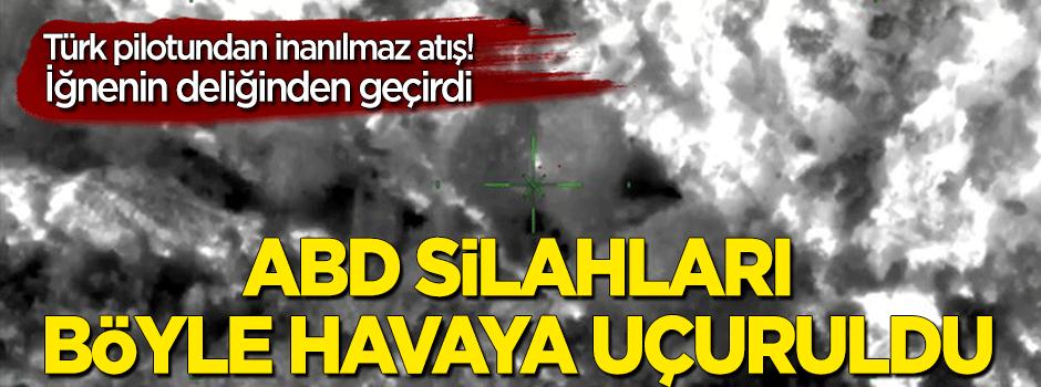 Türk pilotundan inanılmaz atış! PKK'nın ini böyle vuruldu