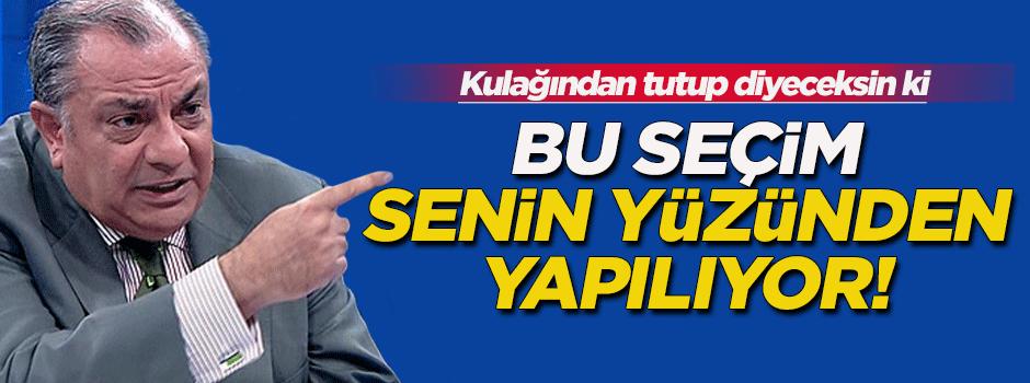 Türkeş: Bu seçim senin yüzünden yapılıyor