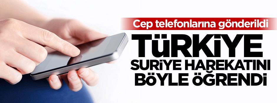 Türkiye harekatı bu mesajla öğrendi!