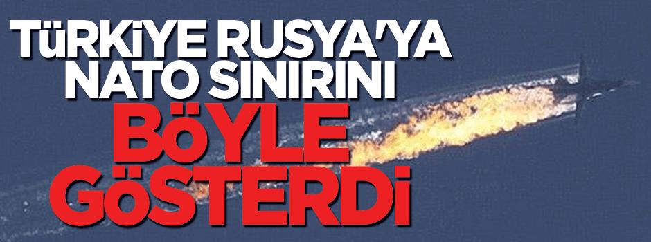 'Türkiye Rusya'ya NATO sınırını gösterdi'