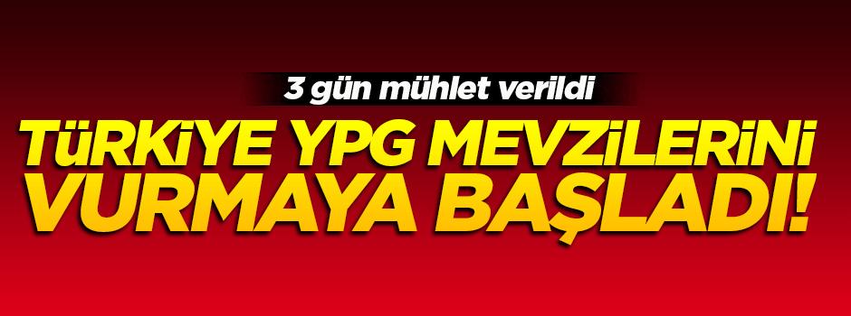 Türkiye terör örgütü YPG mevzilerini vurmaya devam ediyor