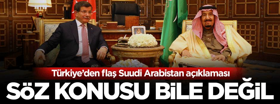 Türkiye'den Suudi Arabistan açıklaması