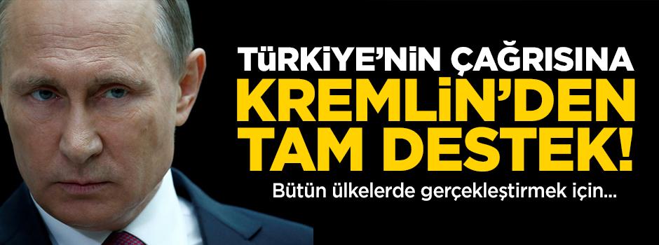 Türkiye'nin çağrısına Rusya'dan destek!