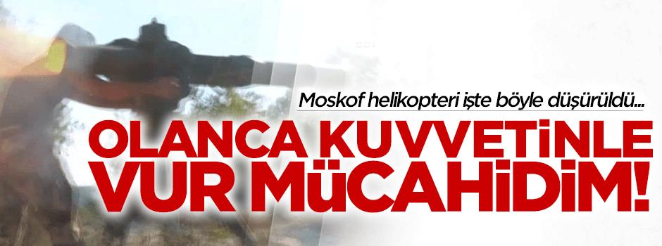 Türkmen Mücahitler Rus helikopteri bakın nasıl indirmiş!