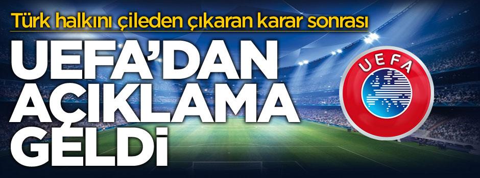 Türkiye'nin tepkisini çeken UEFA'dan açıklama