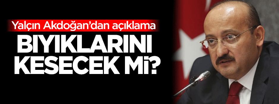 Yalçın Akdoğan'dan 'bıyık' açıklaması