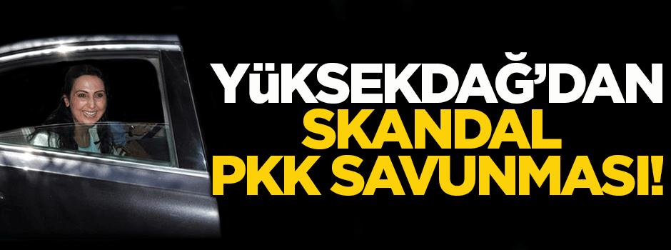 Yüksekdağ'dan skandal terör örgütü PKK savunması