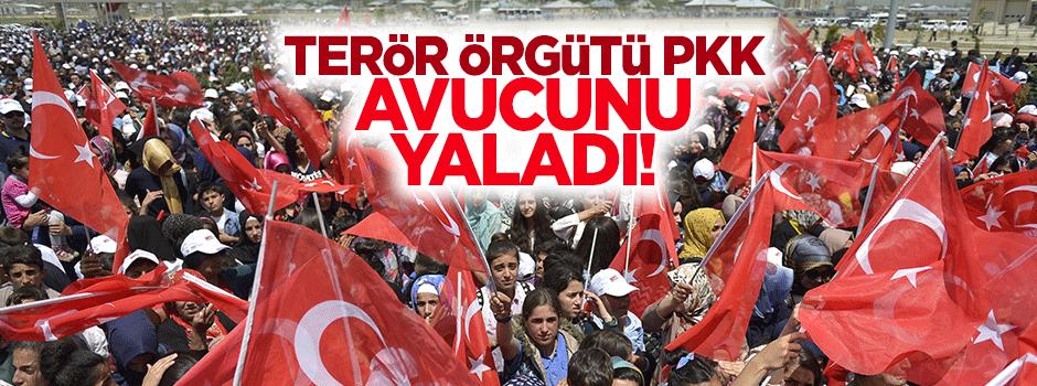 Terör örgütü PKK avucunu yaladı!
