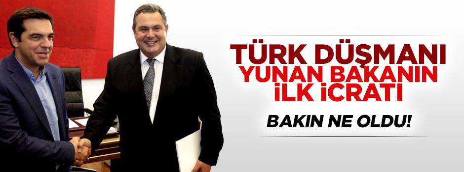 Türk düşmanı Yunan bakanın ilk icraatı!
