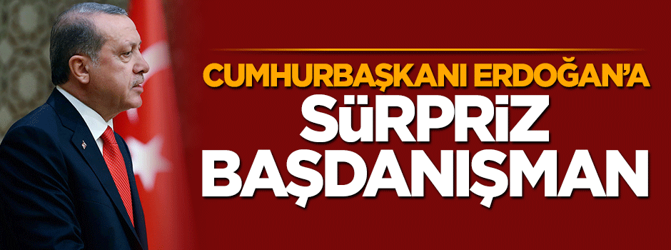 Cumhurbaşkanı Erdoğan'a sürpriz başdanışman
