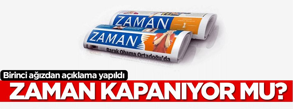 Zaman Gazetesi kapanacak mı?