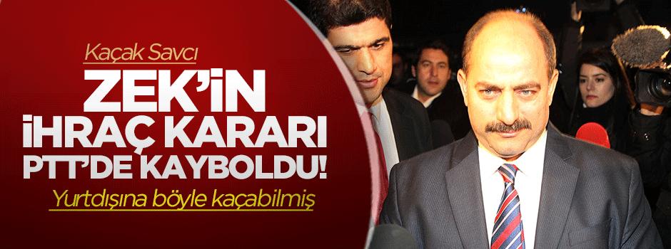 Zekeriya Öz'ün ihraç kararı PTT'de kayboldu!