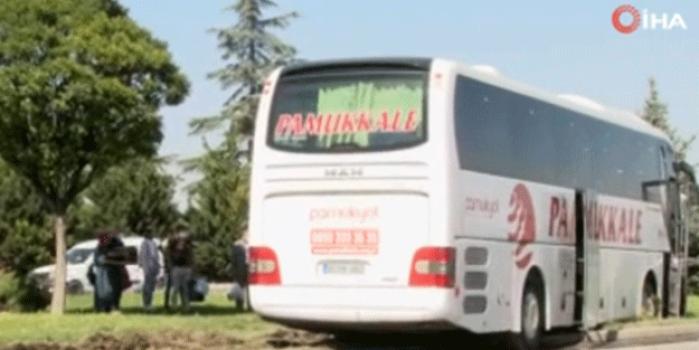 15 yolcusu olan otobüs kamyonetle çarpıştı