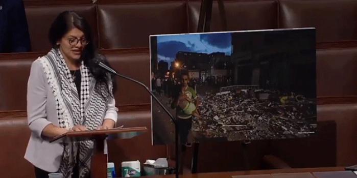 ABD'li vekil Filistin'i anlatırken gözyaşlarına hakim olamadı
