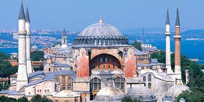 Açılış kararı sonrası ikindi ezanı 86 yıl sonra Ayasofya camii minarelerinden böyle yankılandı