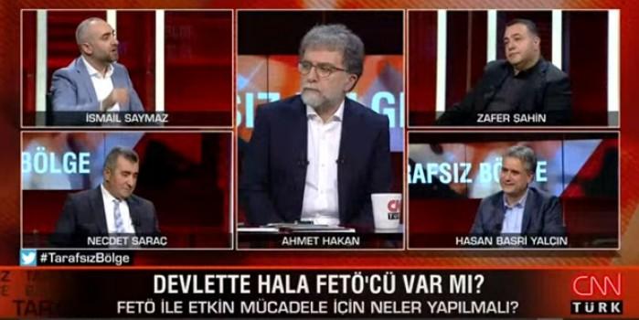 Ahmet Hakan'ın programına Akit'in haberi damga vurdu! Hasan Basri Yalçın'dan Akit'i okuyanlara skandal aşağılama!