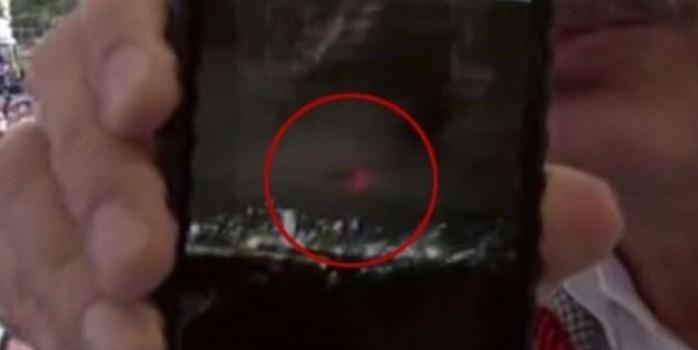 Ankara semalarında enteresan görüntü